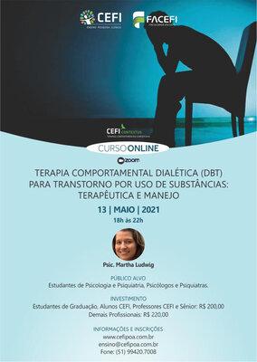 Terapia Comportamental Dialética para Transtorno por Uso de Substâncias:  terapêutica e manejo.