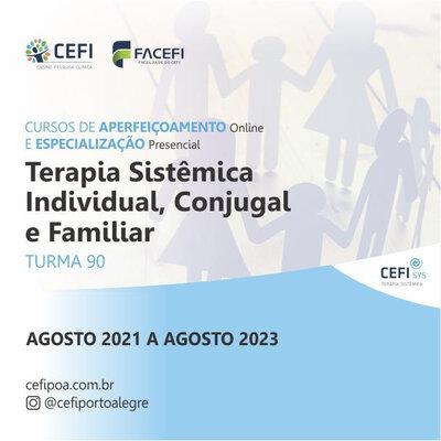 Curso de Especialização Presencial em Terapia Sistêmica Individual, Conjugal e Familiar