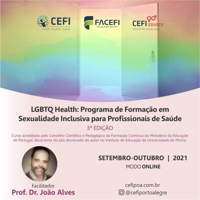 LGBTQ HEALTH: Programa de Formação em Sexualidade Inclusiva para Profissionais de Saúde  (CURSO ONLINE)
