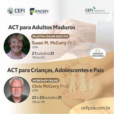 Workshop ACT para Crianças, Adolescentes e Pais e ACT para Adultos Maduros