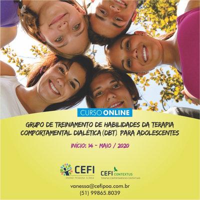 GRUPO DE TREINAMENTO DE HABILIDADES DA TERAPIA COMPORTAMENTAL DIALÉTICA (DBT) PARA ADOLESCENTES