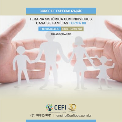 Specialization Course in Systemic Therapy with Individuals, Couples and Families (Weekly)
