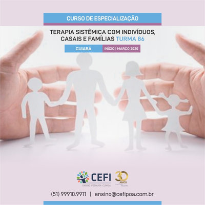 Curso de Especialização em Terapia Sistêmica com Indivíduos, Casais e Famílias