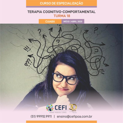 Specialization Course in Cognitive Behavior Therapy - CBT - Cuiabá